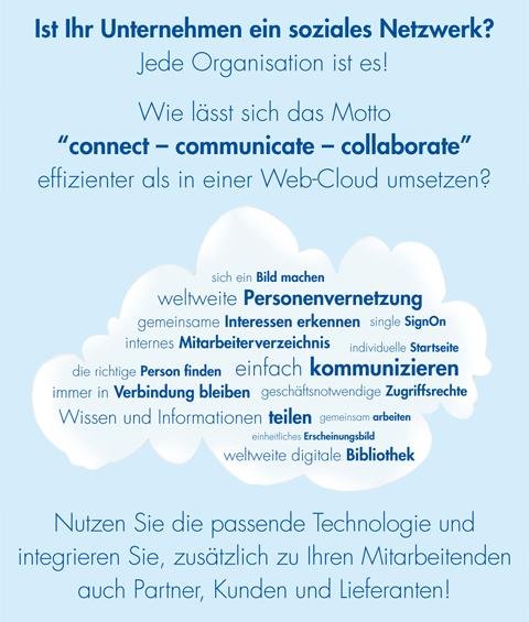 Jede Organisation ist ein soziales Netzwerk! Connect - Communicate - Collaborate.